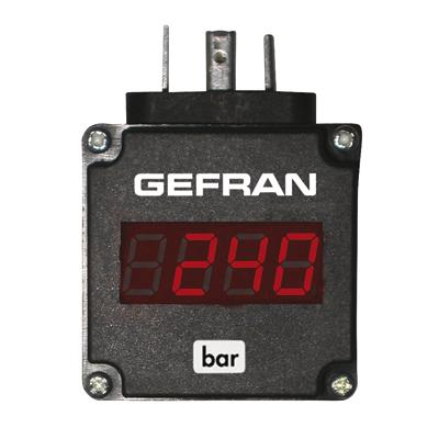Display Gefran transmisor de presión
