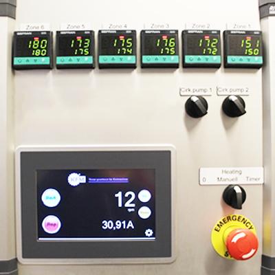 Panel controladores de temperatura Gefran 850