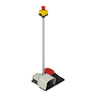pedales de seguridad con pulsador Pizzato